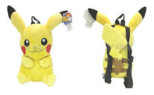 "POKEMON PIKACHU PLUSH BACKPACK! YELLOW LARGE STUFFED DOLL TOY BAG 12-13"" NEW"