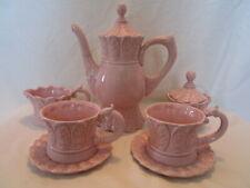 Romancing Provence Rsvp Pink 9-Pc Tea Service Set Tea Pot + More Embossed Floral