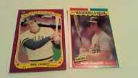 ROOKIES Jose Canseco 1986 Fleer Star Sticker + 1987 Baseball Best Mark McGwire