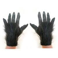 Black Werewolf Monster Beast Killer Gorilla Ape Adult Costume Hands Gloves