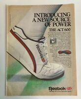1985 Reebok The Act 600 Tennis Shoe Sneaker Vintage Print Ad