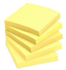 "Pastel Yellow Sticky Notes Square Post it 76mm x 76mm 3""x 3"" 100 Sheets per Pad"