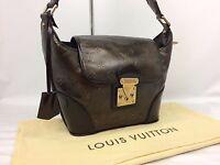 """Auth Louis Vuitton Monogram Bronze Sergent PM Shoulder Bag M95463 7E090480m"""""""