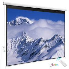 100'' 4:3 White Projection Screen Electric Hd Movie Theater Matte Remote Control