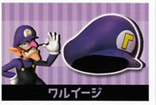 Nintendo Tomy Super Mario mini bottle cap hat purple part 1 gashapon Waluigi