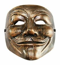 V for Vendetta Mask Fancy Bronze Mask Costume Accessory Anonymous