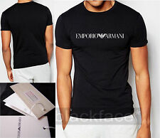 Crew Neck Basic Fitted T-Shirts for Men ARMANI