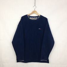 Tommy Hilfiger Fleece Jumper Navy Mens Size Large