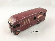 DINKY # 581/981 BRITISH RAILWAYS HORSE BOX LORRY TRUCK DIECAST 1950S MAROON