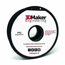 Polycarbonate Pro Series 3D Printer Filament - 3DMaker Engineering