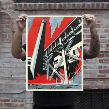 Shepard Fairey Fossil Factory Signed Print Poster Greater We The People Obey Art