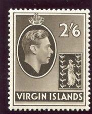 British Virgin Island 1938 KGVI 2s 6d sepia (CH) MLH. SG 118.
