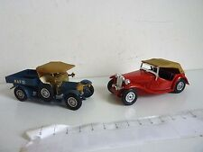 2 MATCHBOX MODEL OF YESTERYEAR Y-8 MG TC 1945 et Y-13 1918 CROSSLEY RAF TENDER