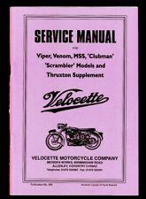 Velocette Venom Viper MSS and Clubman Thruxton Scrambler Service Manual Book