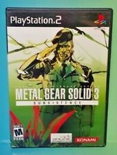 Metal Gear Solid Subsistence   PS2 Playstation 2 Game 1 Owner FLAWLESS Mint Disc