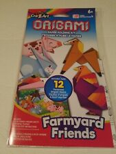 Origami Paper Folding Craft Kit with colorful playmat 12 sheets Farmyard Friends