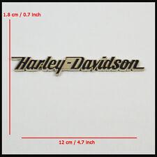 Part For Harley Davidson Straight Letter 3D Metal Chrome Tank Fender Emblem