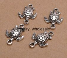 10pcs Tibetan Silver Charms Sea Turtles Connectors 21X14mm D3114