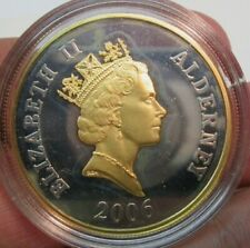 2006 Alderney Queen Elizabeth II 80th Birthday 5 Pounds Proof .925 Silver Coin