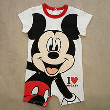 DISNEY barboteuse combicourt combishort combinaison MICKEY taille 12 mois NEUVE