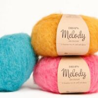DROPS MELODY Chunky fluffy 71% Superfine ALPACA 25% MERINO wool yarn 50g