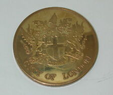 Brass Coin Tower Bridge City of London 1.75 Inch R12276