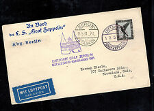 1931 Germany Graf Zeppelin Cover to USA Baltic Flight LZ 127