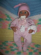 "Zapf Creation Interactive 18"" Baby Annebelle Doll Sounds Head Open/Close Eyes +"