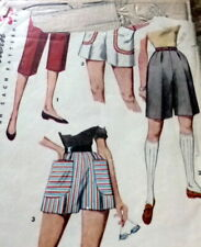 LOVELY VTG 1950s SHORTS Sewing Pattern WAIST 24