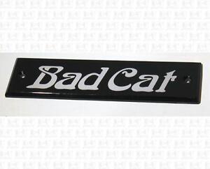 Bad Cat Guitar Amp Name Plate Badge Clear Plastic Medium