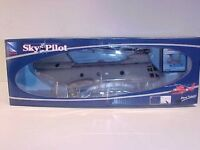 US Marines CH-46 Sea Knight Boeing Helicopter Die-cast 1:55 New Ray 10 inch Gray