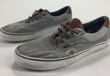 Mens Vans Shoes Gray Grey Maroon Lace Size 11.5