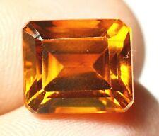 Ceylon's Natural Yellow Sapphire 10.40 Ct Emerald Certified Loose Gemstone F1345