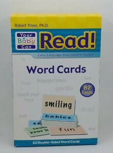 Robert Titzer Your Baby Can Read  82 Double Sided Word Cards