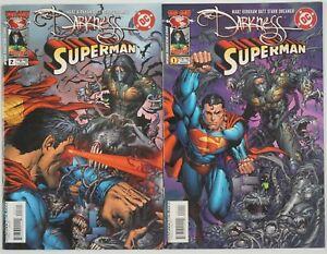 the Darkness/Superman #1-2 VF/NM complete series - ron marz - tyler kirkham set