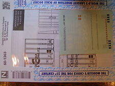 Microscale Decal N #60-1363 Columbia & Cowlitz, Oregon Pacific & Eastern, Apache
