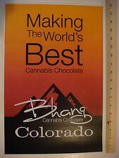 MARIJUANA Ganja Pot POSTER ~ Colorado BHANA Cannabis Chocolate Medicated Edibles