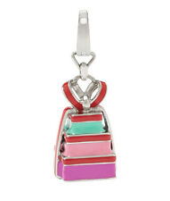 Fossil Brand Stainless Enamel Stacked Present Necklace Bracelet Charm JF00965