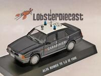 1988 ALFA ROMEO 75 1.8 IE CARABINIERI 1/43 scale model
