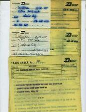 BURLINGTON NORTHERN RAILROAD TRAIN ORDERS (30) WILLMAR, MINNESOTA  1974-1975.