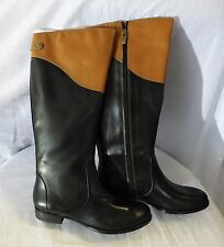 Authentic Isaac Mizrahi Live Brown and Black Women's Boots sz7.5 Great Condition
