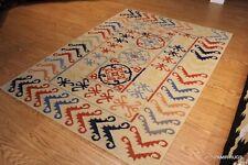 Caucasian Design 5x7 FT. Southwestern Floral Kazakh handmade tribal kilim kelim