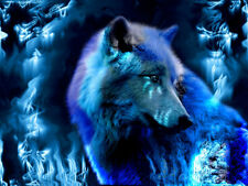 Full Drill DIY 5D Diamond Painting Luminous Wolf Embroidery Cross Stitch Decor