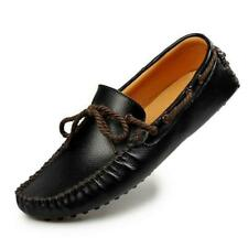 New Men Pull On Loafers Lace Up Round Toe Flat Heel Casual Leisure Shoes Comfort