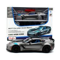 Maisto 1:24 2017 Corvette GT Grand Sport Assembly DIY Car Diecast MODEL KITS NIB