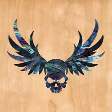 Winged Skull ( Black Pearl ) Cool Inlay Sticker Decal For Guitar & Bass