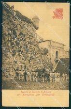 Militari 36º Battaglione 11ª Compagnia Bersaglieri Brescia cartolina XF1195