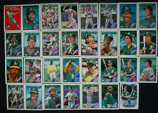 1988 Topps Oakland Athletics A's Team Set of 39 Baseball Cards With Traded
