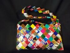 Eco-Friendly Mexican Candy Gum Wrapper Handbag Bag Purse 10x5 fair trade Recycle