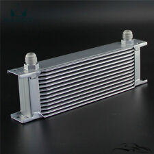 Universal 13 Row AN10 Engine Transmission Aluminum Oil Cooler Mocal Style Silver